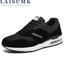 LAISUMK Brand 2019 New Solid Color High Top Shoes Men Casual Lace-Up Light Shoes Chaussure Homme Male Fashion Design Sneaker