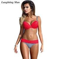 d18b75dcac Laughting Man 2017 Sexy Low Waist Brazilian Bikini Set Women Swimwear  Swimsuit Beach Bahting Suit Push