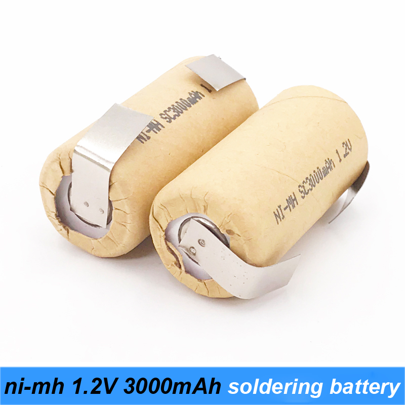 ni-mh 1.2v battery 3000mah soldering strip for power battery screwdriver and robot battery 1.2v nimh rechargeable battery s18