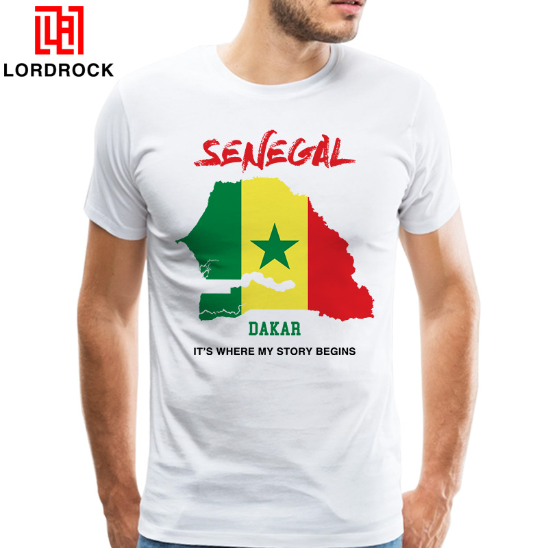 Original Design Capital of Senegal T shirt Men Printed Short Sleeves Camiseta T-shirt Cheap Summer Tee Tops ...