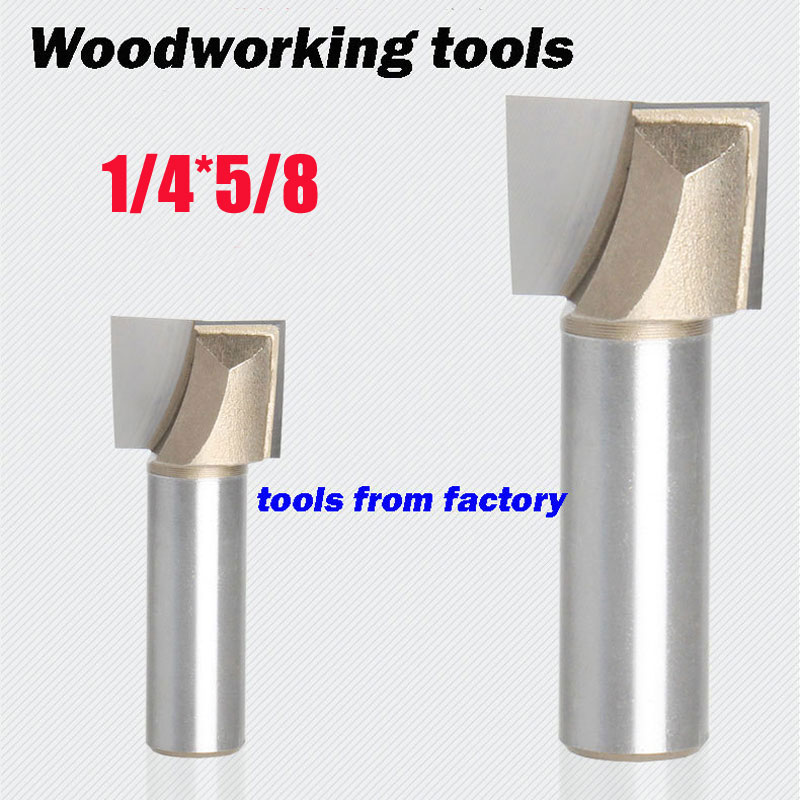 1pc wooden router bits 1/4*5/8 CNC woodworking milling cutter woodwork carving tool 1/4 SHK free shipping 10pcs 6x25mm one flute spiral cutter cnc router bits engraving tool bits cutting tools wood router bits