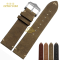 Retro Frosted Genuine leather bracelet handmade watchband watch band Wrist watch strap wristwatches width 20mm 22mm wholesale