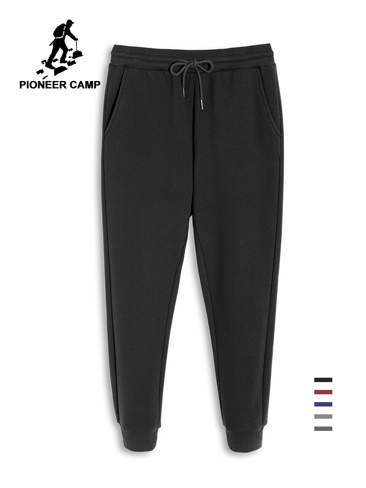 Pioneer Camp High Quality Solid Jogger Pants Men Casual Spring Autumn Male Trousers Navy Wine Black Grey Sweatpants AZZ902143