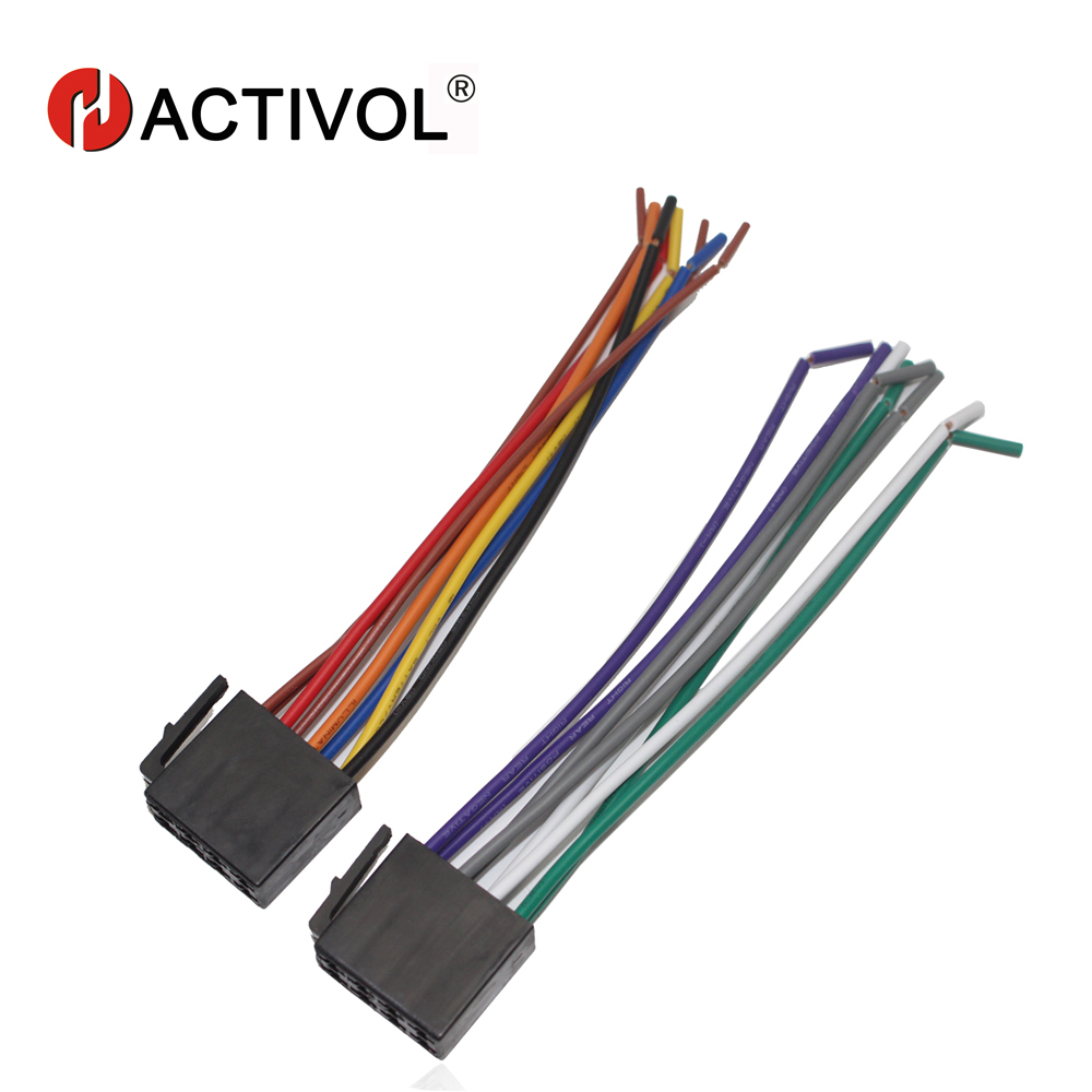 hight resolution of car radio stereo female iso plug power adapter wiring harness special for forte bora polo universal iso harness power cable