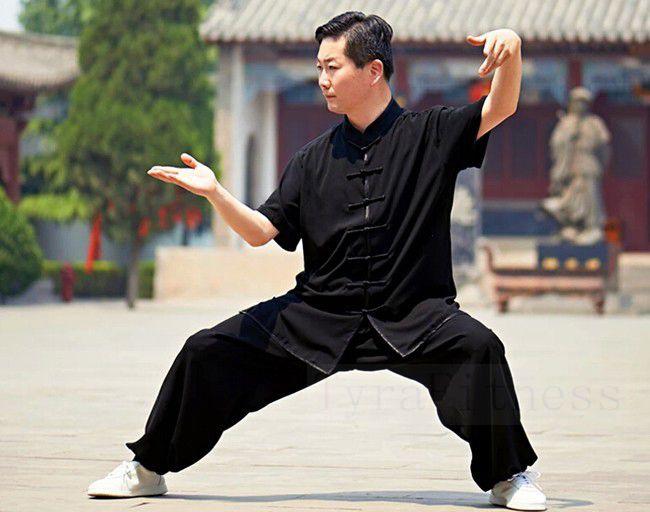 Prix pour Nouveau D'été Kung Fu Uniformes Manches Courtes Tai Chi Costume Arts Martiaux Vêtements Wingchun Taiji Porter Wu Shu Performance Costume