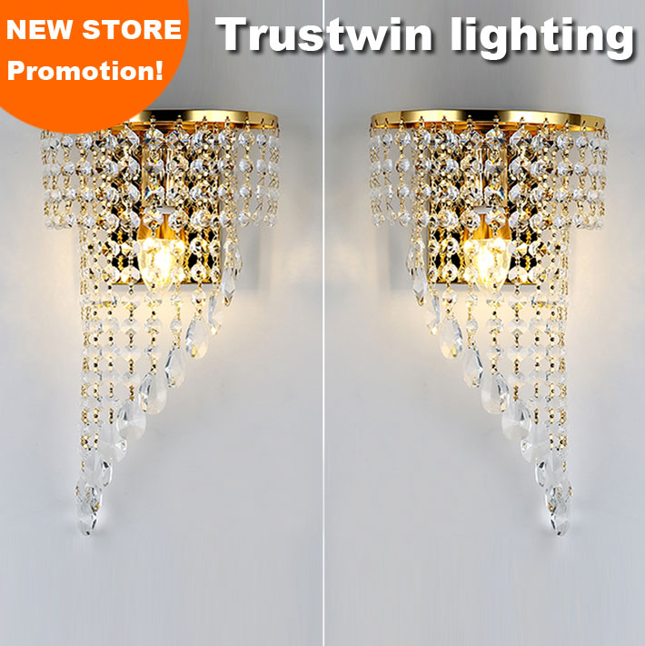 Left Right a pair of light chrome wall lamp sconce gold foyer living bedroom bedside wall