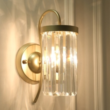 Simple modern crystal wall lamp creative personality living room wall lamps bedroom bedside lamp simple European aisle lamps цены