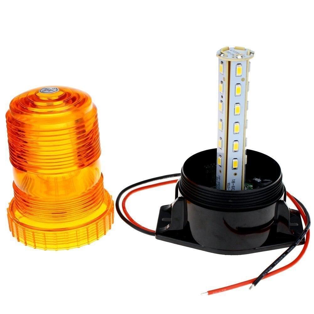 BESTSXMA LED Emergency Warning Light 30 LEDs Amber Strobe Flashing Warning light 15W Waterproof Car Truck Automotive