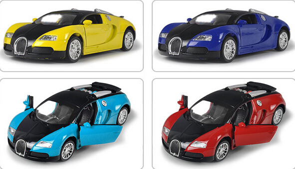 Supercar Bugatti Veyron 1:36 Alloy Diecast Pull Back Music Flashing Model  Simulation Electric Simulation