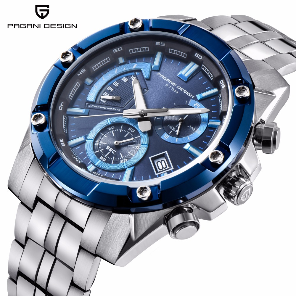 Pagani Quartz Business clock Watches Men Waterproof Sports Luxury Brand Military steel Male wrist Watch Casual Relogio Masculino цены
