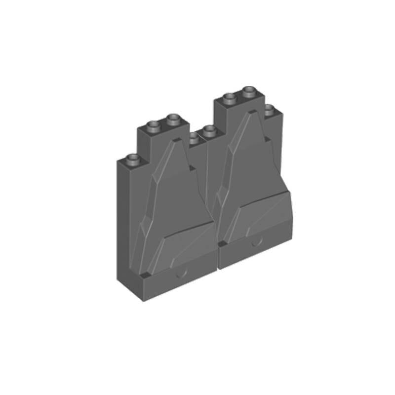 10Pcs/Lot MOC Brick Parts Moutain Rock Panel 2x4x6 Jungle DIY Buiding Block Pieces Toy Compatible with Assemble Particles
