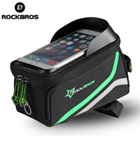 ROCKBROS Waterproof MTB Bike Bicycle Cycling Front Top Frame Handlebar Bag Cycling Pouch Touchscreen Panniers Reflective