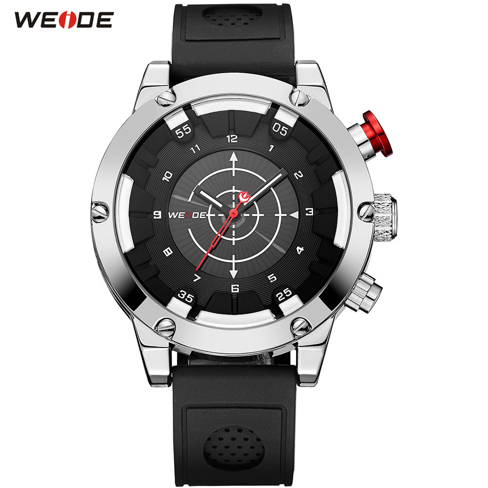 Fashion Top Brand WEIDE Men Analog Watch Sport Watch Men Quartz Waterproof Silicone Band Wristwatch Relogios Masculinos Man Gift goblin shark sport watch 3d logo dual movement waterproof full black analog silicone strap fashion men casual wristwatch sh165