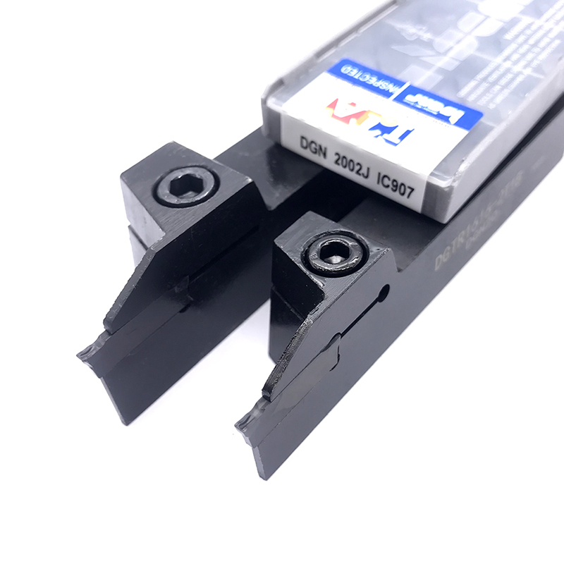 10PCS DGN 2002J IC907 ISCAR Grooving Carbide Inserts + 1PC DGTR2020 2T18 20mm*20mm Parting Grooving Turning Holder