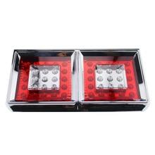 2Pcs 50 LED Car Rear Tail Lights Stop Lamp for 24V Truck Trailer Lorry Mitsubishi