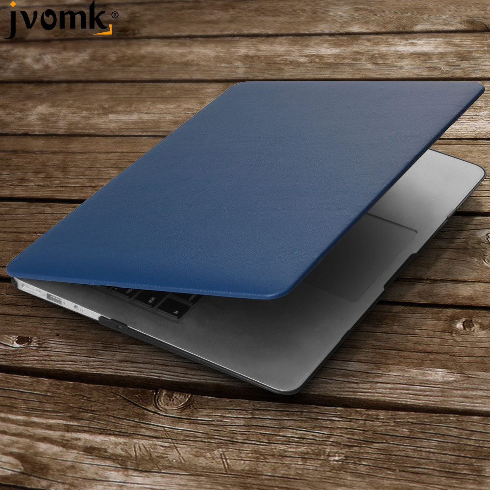 Jvomk Business PU Leather Laptop <font><b>Cases</b></font> for MAC APPLE <font><b>MacBook</b></font> <font><b>Air</b></font> <font><b>13</b></font> inch + <font><b>Transparent</b></font> Keyboard Cover image