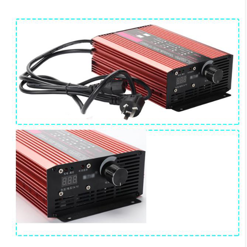 Image 5 - 72V 60V 67.2V 71.4V Li ion LiPo 48V Lifepo4 Lithium Battery Charger Smart Adjustable 2A 5A 10A 12A Fast Charge ebike 12S 20S 24SBattery Accessories & Charger Accessories   - AliExpress
