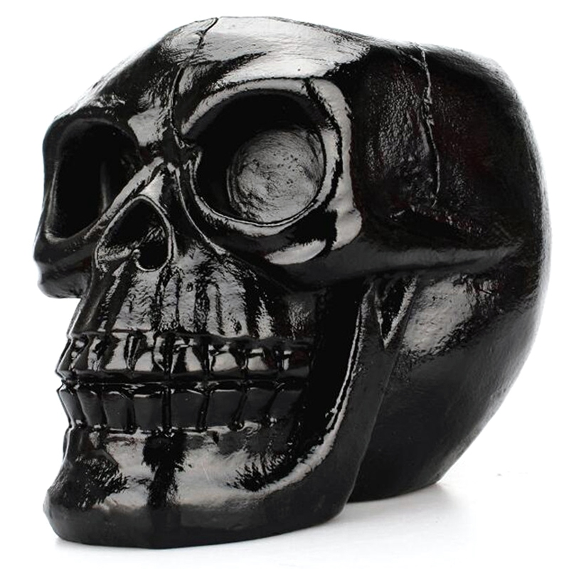 Black Skull Statue Jewelry Stationery Holder Makeup Storage Container Jewelry Box Office Home Decoration