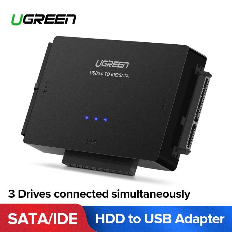 Ugreen 3 Adaptador USB IDE SATA para USB 3.0 2.0 Sata Cabo para 2.5 3.5 HDD Unidade de Disco Rígido SSD USB Conversor Adaptador IDE SATA
