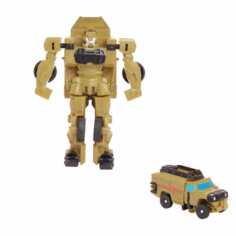 שינוי רובוט רכב צעצועי פעולה דמויות צעצועי פלסטיק מיני אנימה עיוות רובוט רכב חינוך צעצוע לילדים בני מתנה