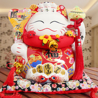 16 Big Eight Party To Wealth Lucky Cat 14 Inch Opening Housewarming Gift Money Piggy Bank