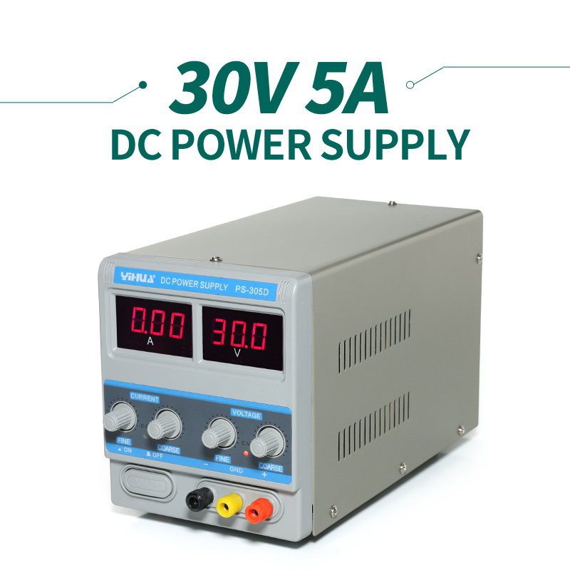 ФОТО A/MA Display YIHUA PS-305D Variable Adjustable DC Power Supply 0-30V 0-5A AC110-240V