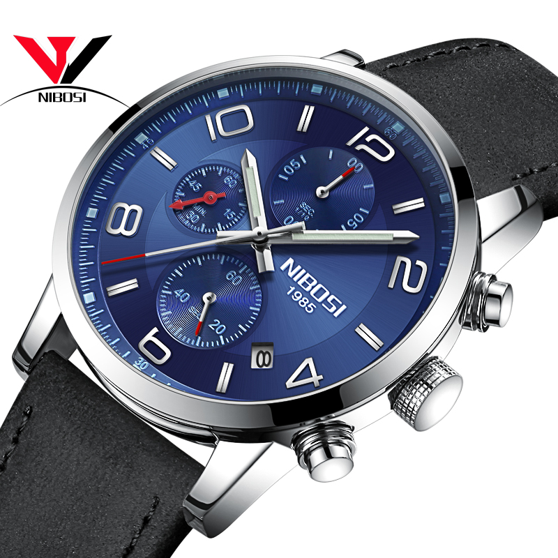 Quartz Wristwatch NIBOSI Watch Sports Men Watch Top Brand Luxury Male Clock Luxury Waterproof Relojes De Hombres Para Hombres hombres g cap roig