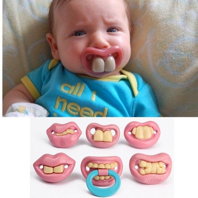 abbastanza Bambino ciucci per bambini romanzo denti ciuccio in silicone  CJ72