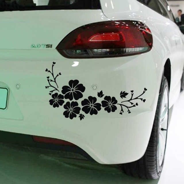Car window body sticker orchid rear windshield wiper self adhesive side truck auto vinyl graphics