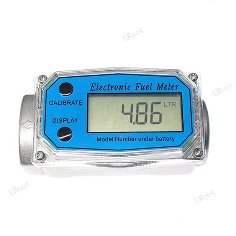 "Turbine Digital Diesel Fuel Flow Meter Oval Gear Flow Gauge BSPT//NPT 1/"" 200L//Min"