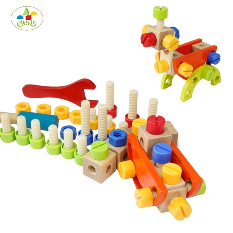 YLB Baby Toys Geometric Assembling Blocks Children Nut Building Block Toy for Boys Montessori Educational creative chain buckle ring blocks children plastic building blocks geometric buckle construction assembling toy educational toys