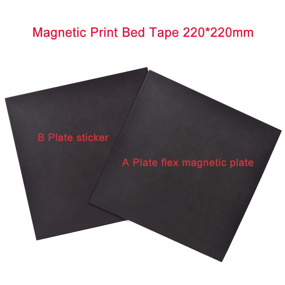 <font><b>3D</b></font> <font><b>Printer</b></font> Parts Magnetic Print Bed Tape square 220x220MM Print Sticker Build <font><b>Plate</b></font> Tape FlexPlate PLA Surface <font><b>Flex</b></font> <font><b>Plate</b></font> DIY image