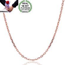 OMHXZJ Wholesale European Fashion Woman Man Party Wedding Gift Cross Chain 18KT Rose Gold Yellow Necklace NA215