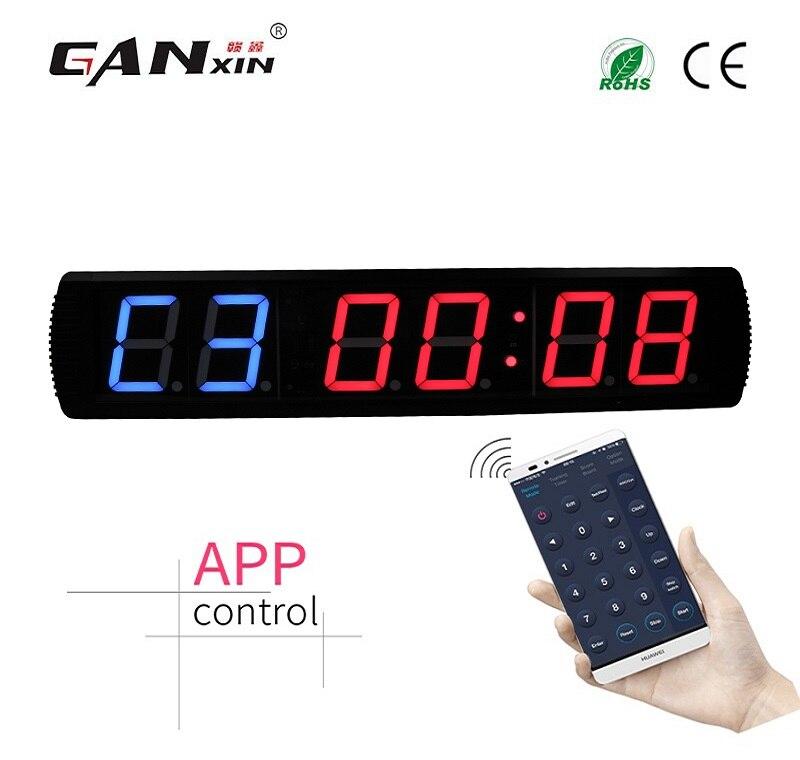 [Ganxin] 4-дюймовый тренажерный зал Кроссфит таймер, время тренировки и время отдыха, а также не будут поочередно - Цвет: GI2B4R-app control