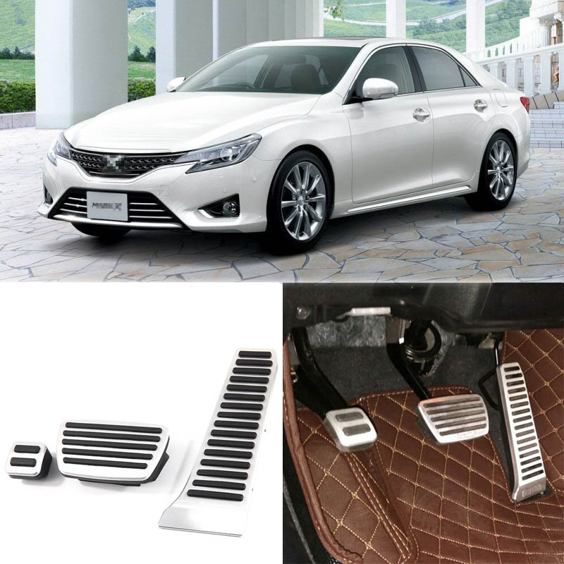 Brand New 3pcs Aluminium Non Slip Foot Rest Fuel Gas Brake Pedal Cover For Toyota Reiz AT 2013-2015 brand new 3pcs aluminium non slip foot rest fuel gas brake pedal cover for vw touran at 2008 2015