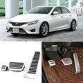 Brand New 3pcs Aluminium Non Slip Foot Rest Fuel Gas Brake Pedal Cover For Toyota Reiz AT 2013-2015