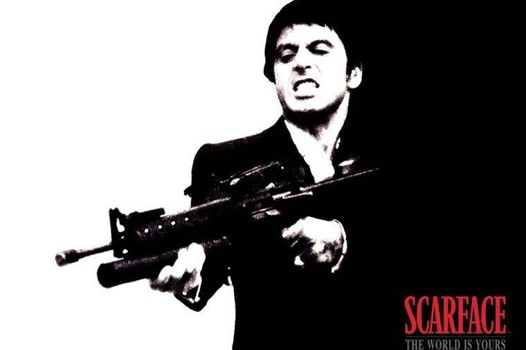 DIY рамка классический Gangster Плёнки Scarface шелка печати о фильме для дома декоративные-высокое качество изображения