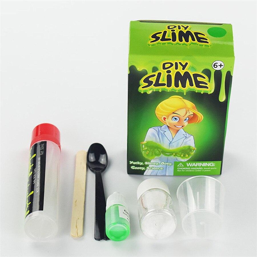 Hiinst хорошее качество пушистый floam слизь комплект сделать свой собственный детский gloop сенсорными играем по науке DIY игрушка выпуская стресс ... ...