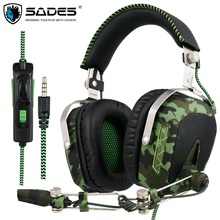 SADES SA926T 3,5mm Gaming Headset Kopfhörer Für Xbox One Handy Mac Laptop PC Camouflage