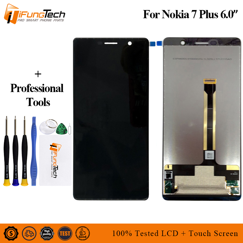 6 0 inch display screen For Nokia 7 plus LCD Touch Screen Digitizer Assembly TA 1046