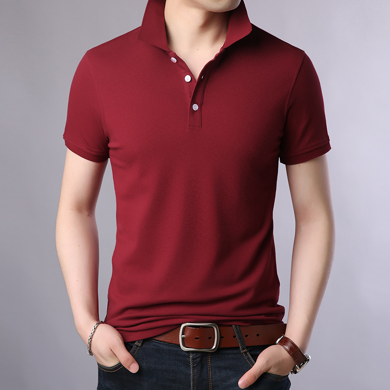2019 New Fashions Brand Summer   Polo   Shirt Men Solid Color High Quali Slim Fit Short Sleeve 100% Cotton   Polos   Casual Men Clothes