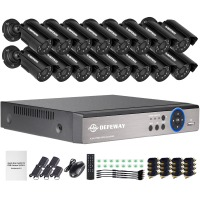 DEFEWAY 1080N HDMI DVR 1200TVL 720P HD Outdoor Home Security Camera System 16 CH Video Surveillance