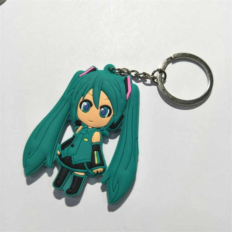 חדש Hatsune Miku דמויות צעצועי Kawaii יפן אנימה בצל סאקורה Miku PVC Keychain Keyring מפתח תיק תליון בובות 10 יח'\חבילה