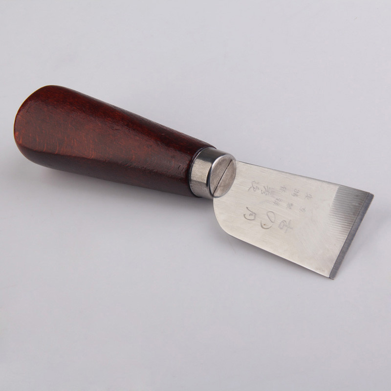 Professional Leather Cutting Knife With Wooden Handle Protable Convenient Craft Tool Functional Perfect