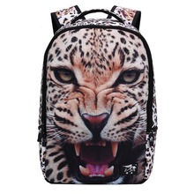 Cool 3D Leopard Printing Backpack For Teenage Girls Boys Zoo Animal School Backpacks For College Student Bagpack 18 Inch Retail