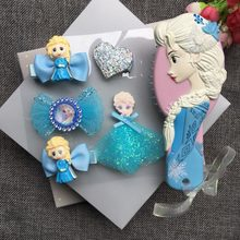 Free Shipping Princess Comb Hair Rope Headwear Set F rozen Elsa Ariel Cartoon 3D Stereo Air Cushion Comb Girl Headwear Hair(China)