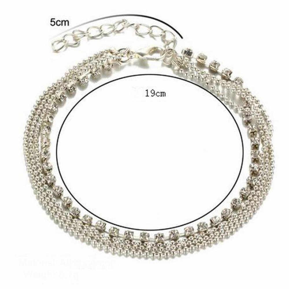 Chandler korale łańcuszek na kostkę na nogę bransoletka kobiety proste Slim regulowany drut kostki lato plaża biżuteria hurtowych 533