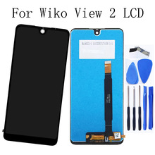 6.0Original For wiko view 2 LCD Display Touch Screen Glass panel with Frame Repair Kit Replacement Phone Parts +Free Shipping skylarpu 2 6 inch tft lcd screen for garmin gpsmap 76csx handheld gps lcd display screen panel repair replacement free shipping