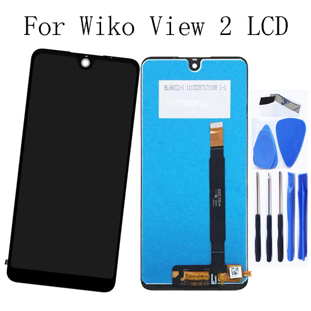 """6.0""""Original For wiko view 2 LCD Display Touch Screen Glass panel with Frame Repair Kit Replacement Phone Parts +Free Shipping"""