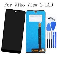 """6.0 """"Original pour wiko view 2 LCD écran tactile panneau de verre avec cadre Kit de réparation pièces de téléphone de remplacement + livraison gratuite"""